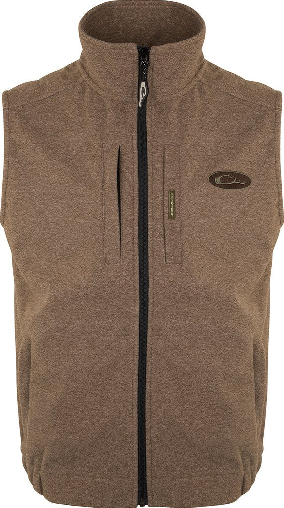 DRAKE HEATHER WINDPROOF LAYERING VEST - BROWN