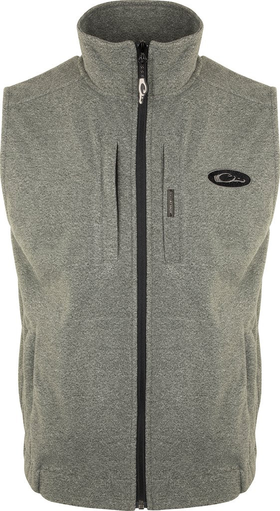 DRAKE HEATHER WINDPROOF LAYERING VEST - GRAY