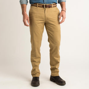 DUCK HEAD GOLD SCHOOL CHINO- DARK KHAKI