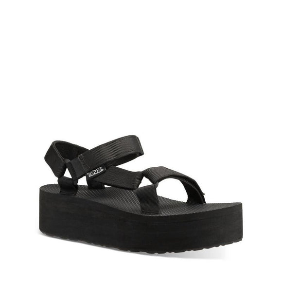 LADIES TEVA FLATFORM UNIVERSAL-BLACK