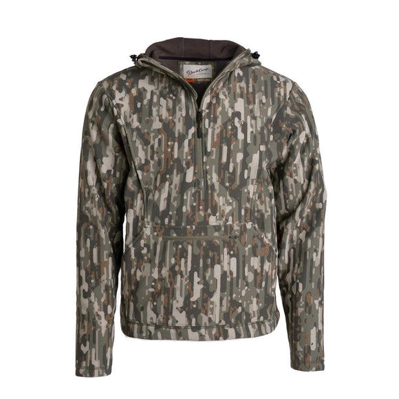 DUCK CAMP HEAD GUIDE FLEECE HOODIE HALF ZIP - WOODLAND