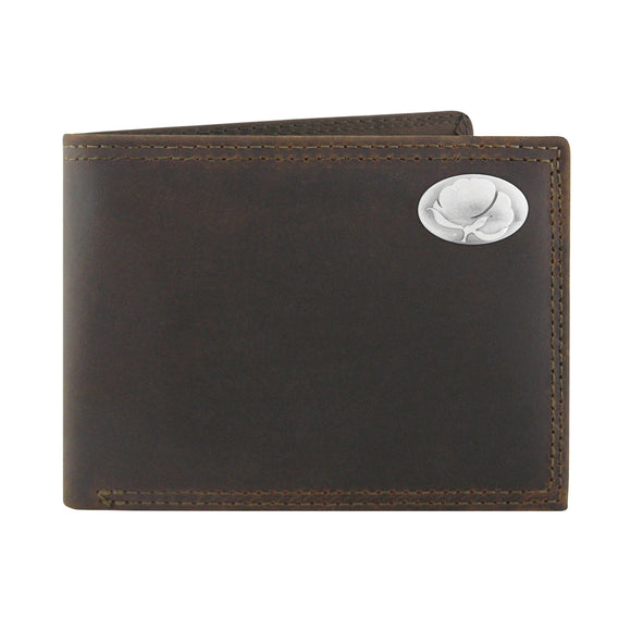 LEATHER PASSCASE WALLET - COTTON