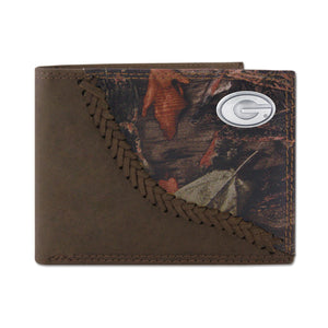 CAMO LEATHER PASSCASE WALLET - UGA