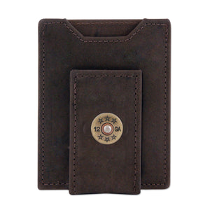 LEATHER FRONT POCKET WALLET - SHOT SHELL