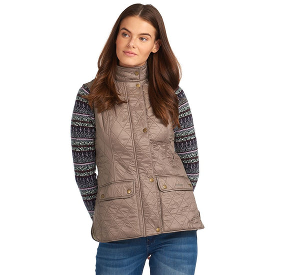 LADIES BARBOUR WRAY GILET - TAUPE