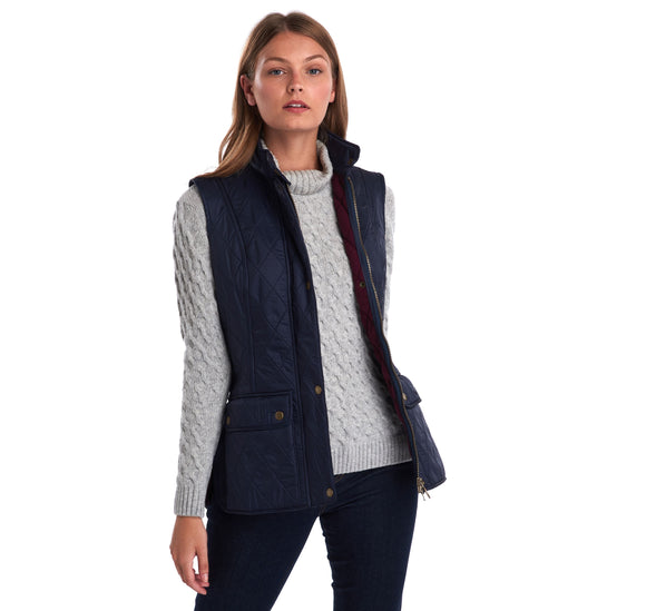 LADIES BARBOUR WRAY GILET - NAVY