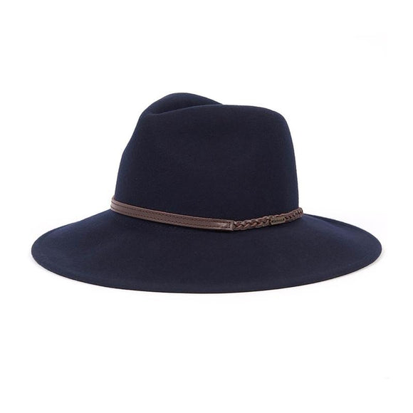 LADIES BARBOUR TACK FEDORA - NAVY