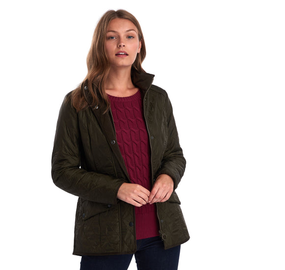 LADIES BARBOUR CAVALRY POLARQUILT JACKET - OLIVE