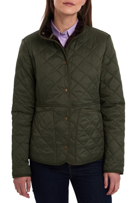 LADIES BARBOUR JASMINE QUILTED JACKET - OLIVE