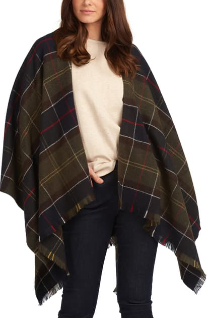 LADIES BARBOUR STAFFIN TARTAN WRAP - CLASSIC TARTAN