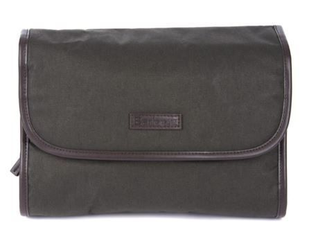 MENS BARBOUR HANGING WASHBAG - OLIVE