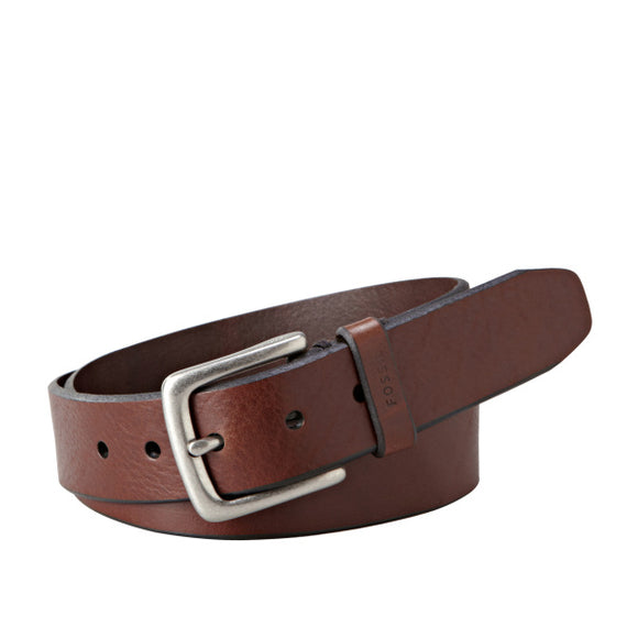 MENS FOSSIL JOE BELT BROWN