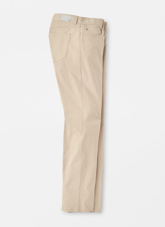 PETER MILLAR EB66 PERFORMANCE 5 POCKET PANT- KHAKI