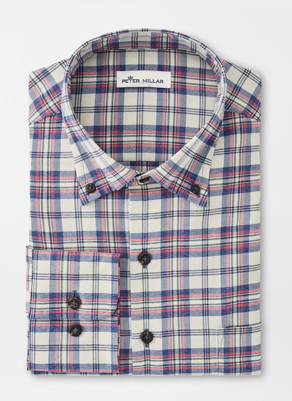 PETER MILLAR WOODLY PERFORMANCE FLANNEL SPORT SHIRT