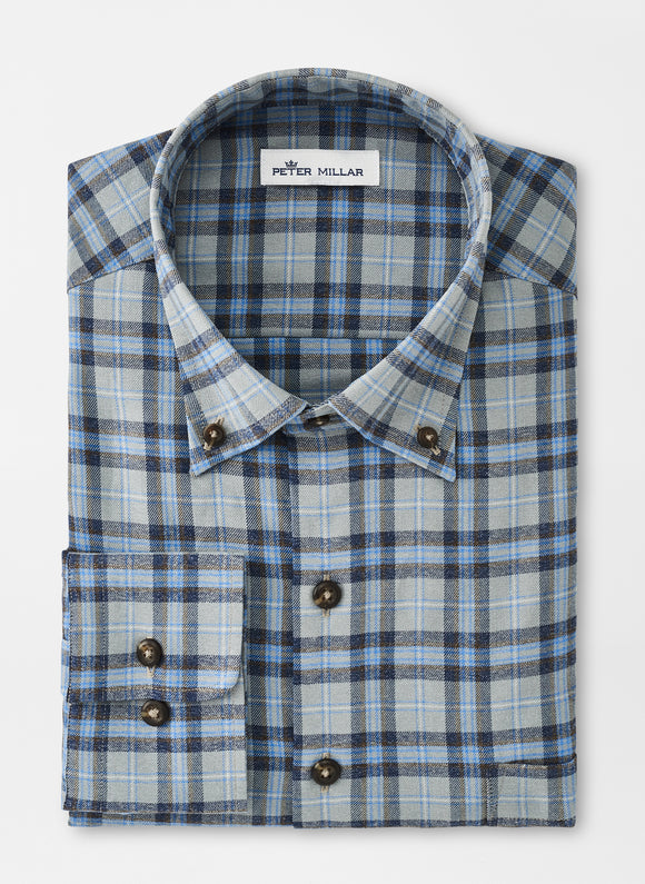 PETER MILLAR EMMETT PERFORMANCE FLANNEL SPORT SHIRT