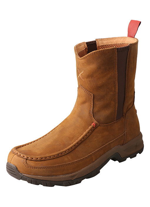 TWISTED X 8IN PULL ON HIKER BOOT-DISTRESSED SADDLE