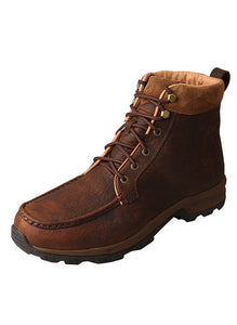 TWISTED X MENS 6IN HIKER BOOT-WP DARK BROWN