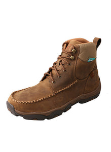 "TWISTED X MENS 6"" DRIVING MOC HIKER BOOT- WATERPROOF"