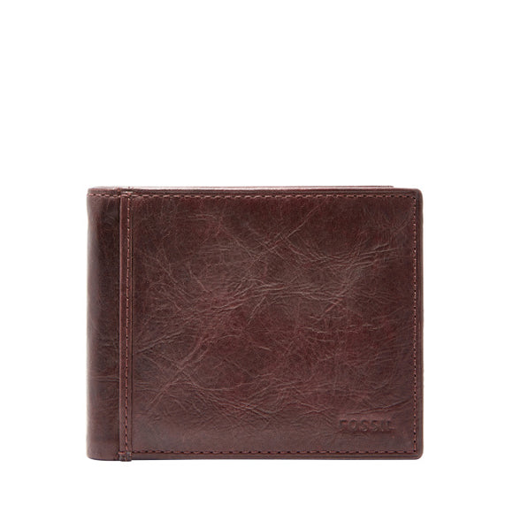 MENS FOSSIL INGAM RFID BIFOLD WITH FLIP ID