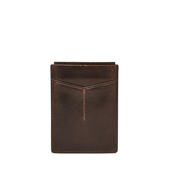 MENS FOSSIL DERRICK MAGNETIC CARD CASE