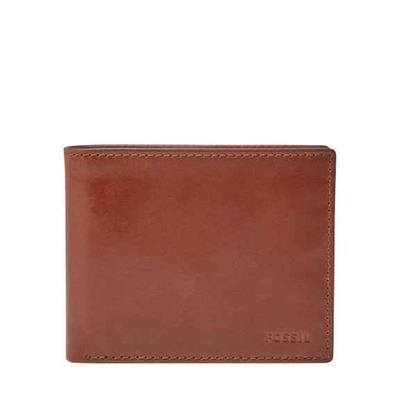 MENS FOSSIL HUGH BIFOLD WITH  FLIP ID