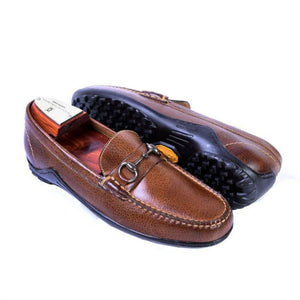 MARTIN DINGMAN BILL WATER BUFFALO LEATHER HORSE BIT LOAFER