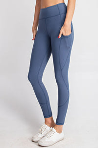 FULL LENGTH YOGA PANTS WITH SIDE POCKETS