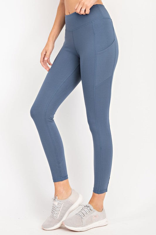 COMPRESSION FULL LENGTH ACTIVE LEGGINGS - CODE BLUE