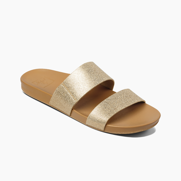 REEF LADIES CUSHION VISTA- TAN/CHAMPAGNE