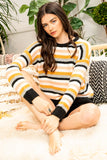 COLORBLOCKED STRIPES SWEATER by THML