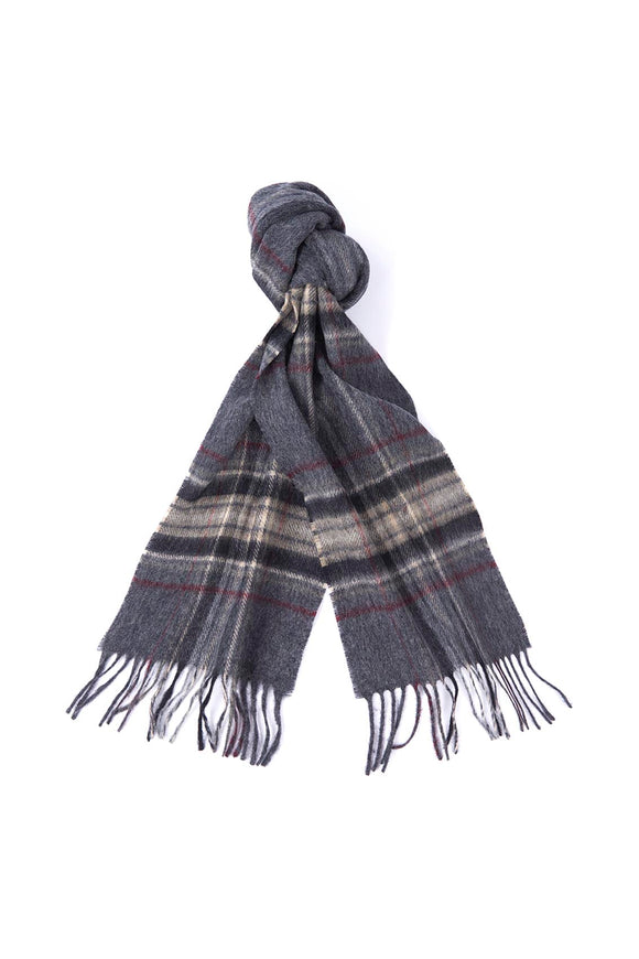 BARBOUR ELWOOD SCARF - GREY/BEIGE