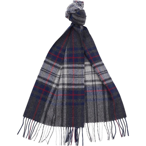 BARBOUR BORROWDALE CHECK SCARF - NAVY/CHARCOAL