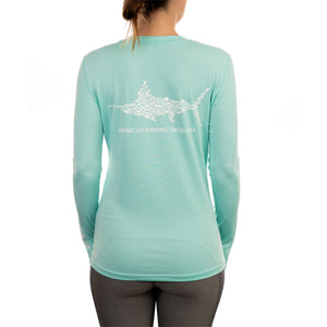 AFTCO LADIES JIGFISH PERFORMANCE LS T-SHIRT