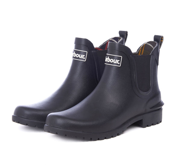LADIES BARBOUR WILTON WELLINGTONS - BLACK