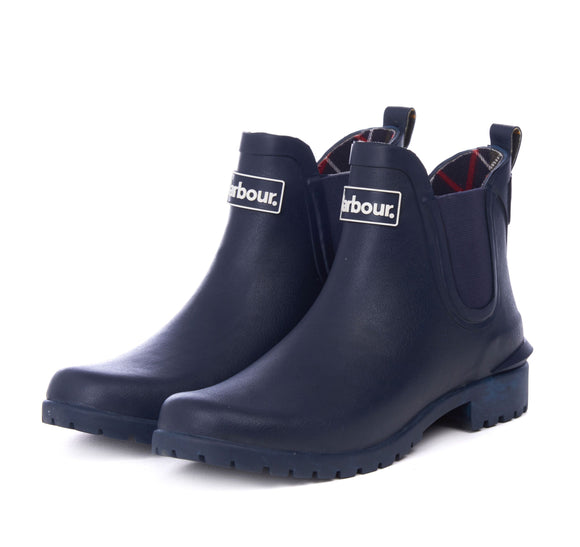 LADIES BARBOUR WILTON WELLINGTONS - NAVY