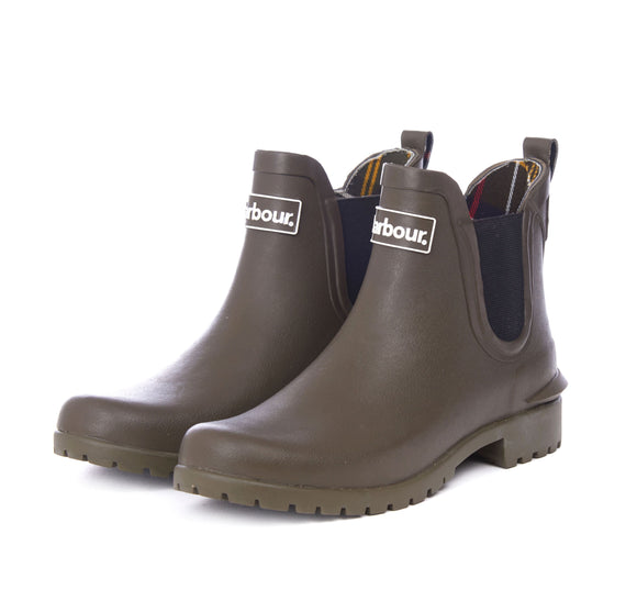 LADIES BARBOUR WILTON WELLINGTONS - OLIVE