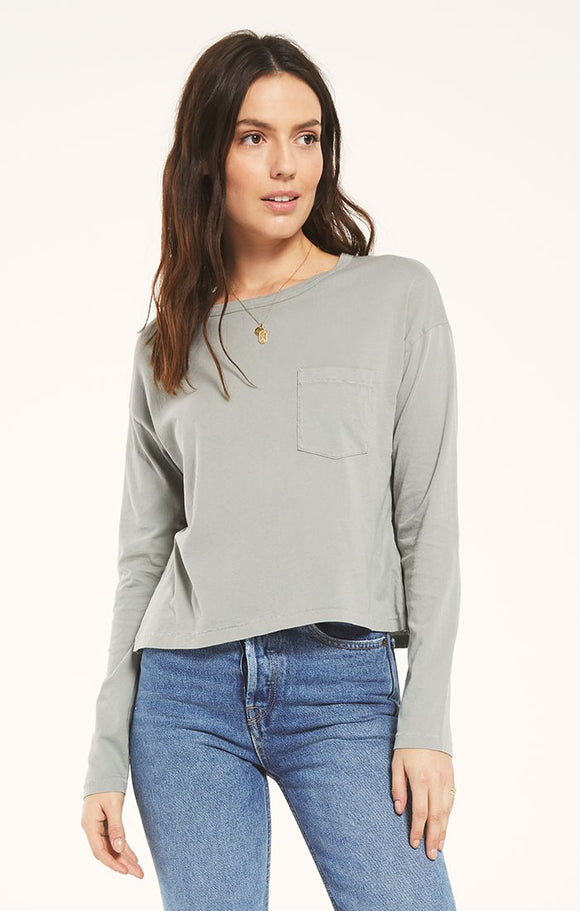 Z SUPPLY MINA ORGANIC LONG SLEEVE