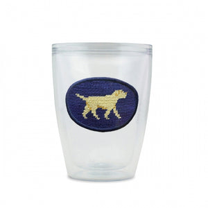 SMATHERS & BRANSON YELLOW LAB NEEDLEPOINT TUMBLER
