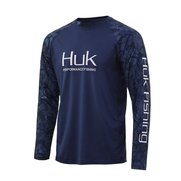 HUK CURRENT CAMO DOUBLE HEADER