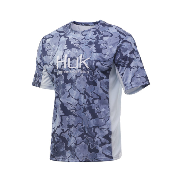 HUK ICON X CURRENT CAMO SHORT SLEEVE
