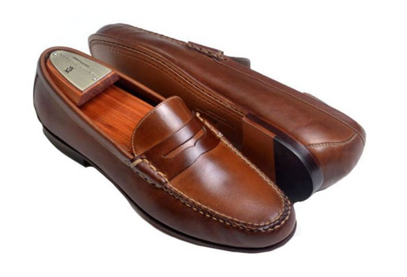 MARTIN DINGMAN OLD ROW OILED SADDLE LEATHER PENNY LOAFER