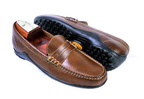 MARTIN DINGMAN BILL WATER BUFFALO LEATHER PENNY LOAFER