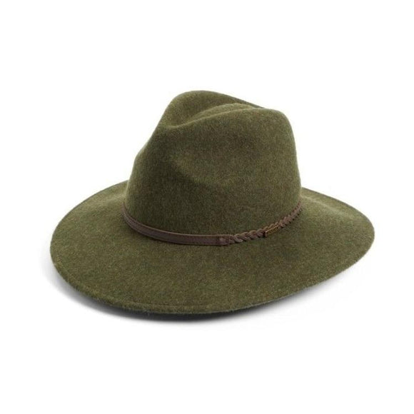 LADIES BARBOUR TACK FEDORA - OLIVE