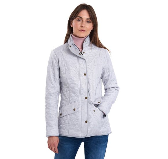 LADIES BARBOUR CAVALRY POLARQUILT JACKET - ICE WHITE