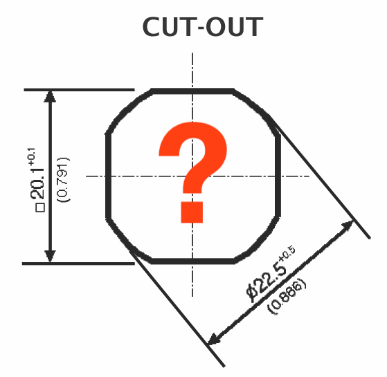 Octagonal Cut Out for Quarter Turns