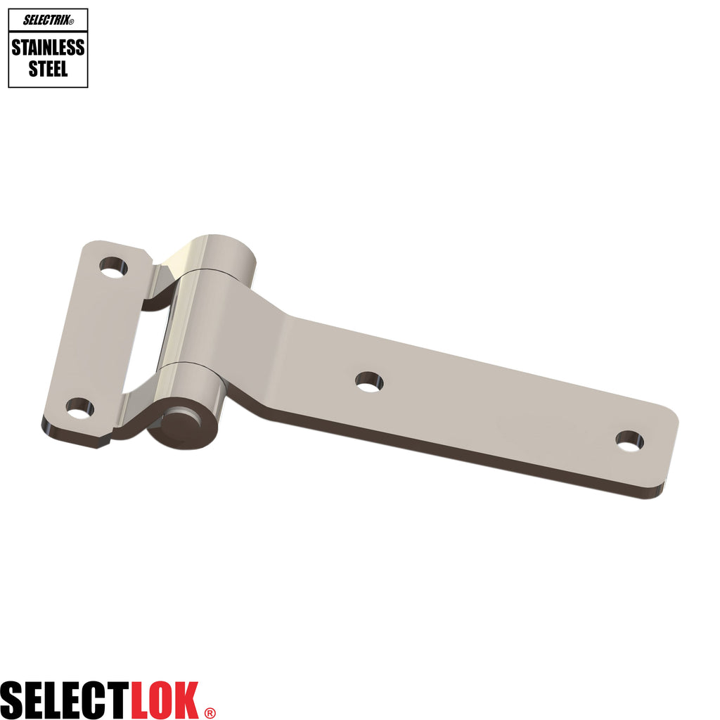 140mm Flat Door Hinge Stainless Steel - Selectlok
