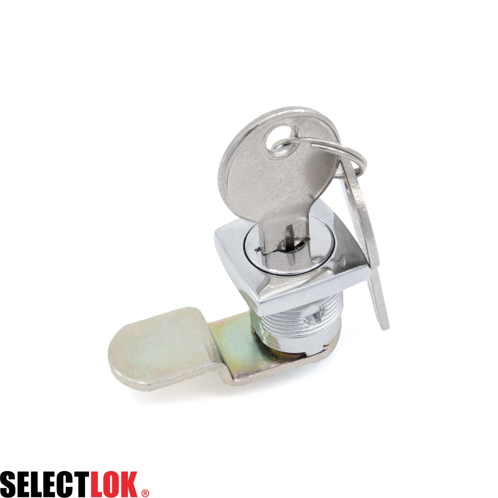 Cam Lock L=16mm Chrome Round CL003 30mm Flat Cam - Selectlok