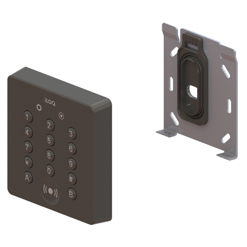 iLOQ S5 NFC & RFID Wall Reader With Button Keypad For PIN Code