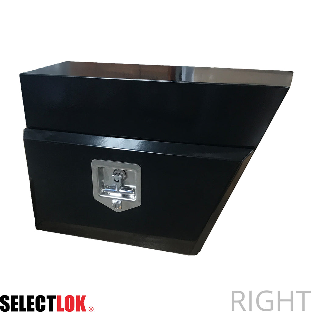 Underbody Tool Box 600 x 400 x 260 Powder Coated Black