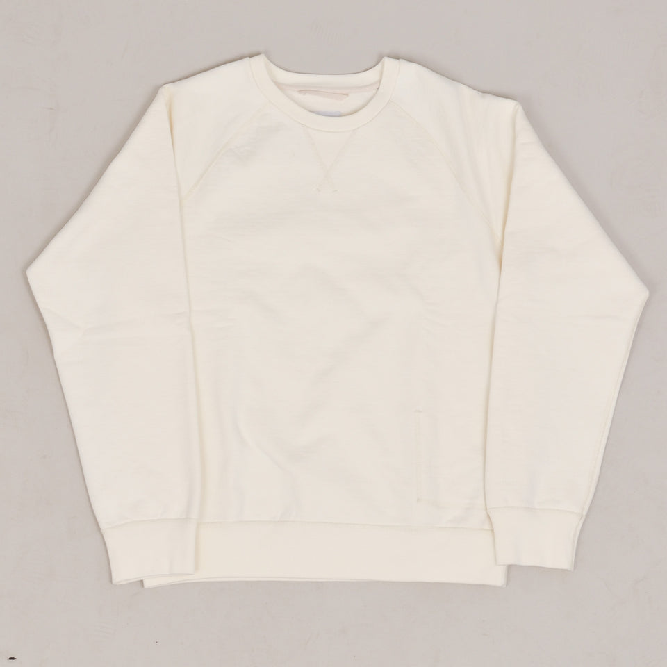 Albam Fleeceback Athletic Sweatshirt - Ecru